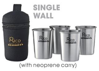 Stainless Steel Single Wall Cup Sets