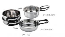 Stainless Steel Outdoor Pot Set