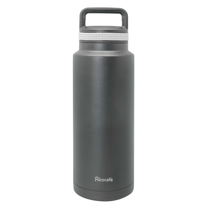 Stainless Steel Vacuum Sports Bottle Black 1200ml