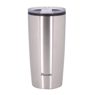 Stainless Steel Double Wall Coffee Mug 20oz Silver