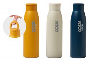 Stainless Steel Vacuum Sports Bottle with Silicone Ring