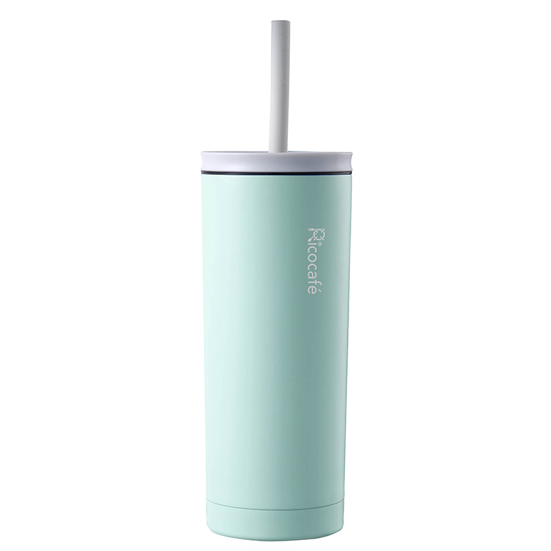 Summer Stainless Steel Vacuum Straw Mug