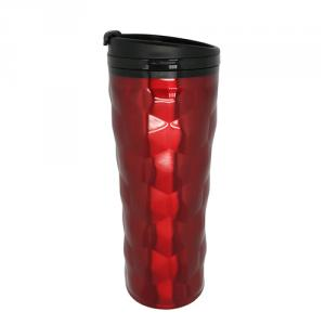 Unique Stainless Steel Double Wall Travel Mug 16oz Red