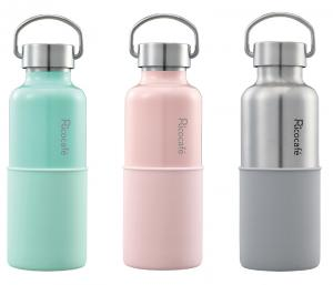 Handle & Silicone Base Stainless Steel Vacuum Sports Bottle
