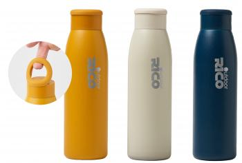 Silicone Ring Stainless Steel Vacuum Sports Bottle