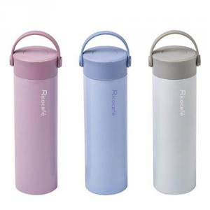 Swiveling Handle Stainless Steel Thermal Mug
